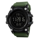SKMEI 1384 Multifunctional Men Outdoor Fashion Noctilucent Waterproof LED Digital Watch (Army Green)