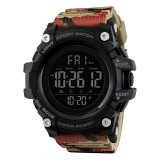 SKMEI 1384 Multifunctional Men Outdoor Fashion Noctilucent Waterproof LED Digital Watch (Camouflage)
