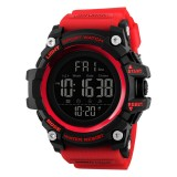 SKMEI 1384 Multifunctional Men Outdoor Fashion Noctilucent Waterproof LED Digital Watch (Red)