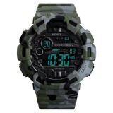 SKMEI 1472 Multifunctional Men Outdoor Sports Noctilucent Waterproof Didital Wrist Watch (Camouflage)