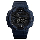 SKMEI 1472 Multifunctional Men Outdoor Sports Noctilucent Waterproof Didital Wrist Watch (Dark Blue)