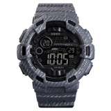 SKMEI 1472 Multifunctional Men Outdoor Sports Noctilucent Waterproof Didital Wrist Watch (Grey)