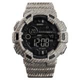 SKMEI 1472 Multifunctional Men Outdoor Sports Noctilucent Waterproof Didital Wrist Watch (Khaki)