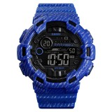 SKMEI 1472 Multifunctional Men Outdoor Sports Noctilucent Waterproof Didital Wrist Watch (Sky Blue)