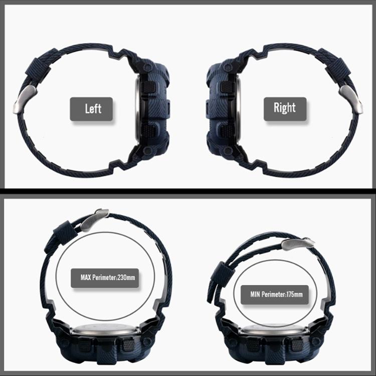 SKMEI 1472 Multifunctional Men Outdoor Sports Noctilucent Waterproof Didital Wrist Watch (Sky Blue)