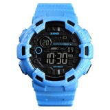 SKMEI 1472 Multifunctional Men Outdoor Sports Noctilucent Waterproof Didital Wrist Watch (Baby Blue)