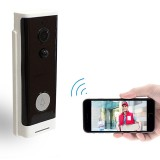 M200A WiFi Intelligent Round Button Video Doorbell, Support Infrared Motion Detection & Adaptive Rate & Two-way Intercom & Remote / PIR Wakeup (White)