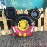 Baby Cartoon Inflatable Swimming Ring Lifesaving Ring Axillary Ring Suitable for Children Aged 2-6, Size: 86x65cm (Black Red)