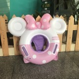 Baby Cartoon Inflatable Swimming Ring Lifesaving Ring Axillary Ring Suitable for Children Aged 2-6, Size: 86x65cm (Pink + White)
