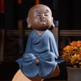 Colored Sand Ceramic Kungfu Little Monk Decorative Ornaments Creative Home Desktop Tea Pet Teaware Crafts (9)