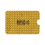 100 PCS Aluminum Foil RFID Blocking Credit Card ID Bank Card Case Card Holder Cover, Size: 9×6.3cm (Golden Grid)