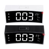Arc LED Alarm Clock Digital Snooze Touch Control Table Clock Day Time Temperature Display Home Decoration