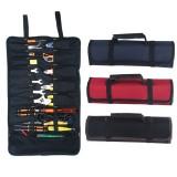 585x355mm Portable Tool Storage Bag Oxford Canvas Chisel Waterproof Roll Bag Repair Organizer Instrument Case