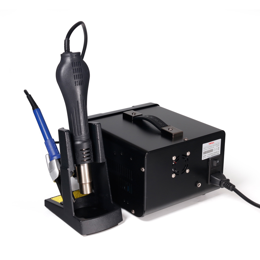 YIHUA 853D 5A II 3 in 1 920W SMD Soldering Station USB DC Power Supply Hot Air Gun BGA Rework Station Solder Iron Welding Tool