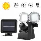 40LED Solar Wall Light Dual Head PIR Motion Sensor Spotlight Outdoor Garden Lamp