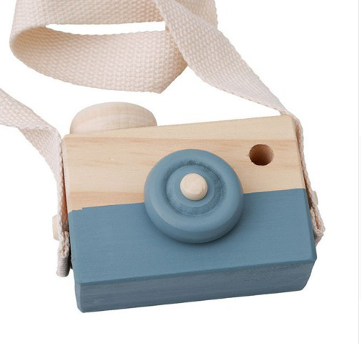 Wearable Children's Wooden Camera Ornaments Mini Portable Educational Toys Photography Cute Props