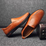 Slip Resistant Casual Slip On Business Walking Leather Flats
