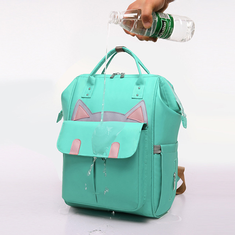 Women Fashion Cute Backpack Mummy Bag Multi-function Large Capacity Shoulder Bag For Outdoor Shopping