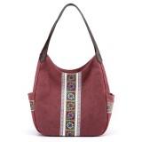 Women Large Capacity Canvas Handbag Shoulder Bag For Outdoor Shopping