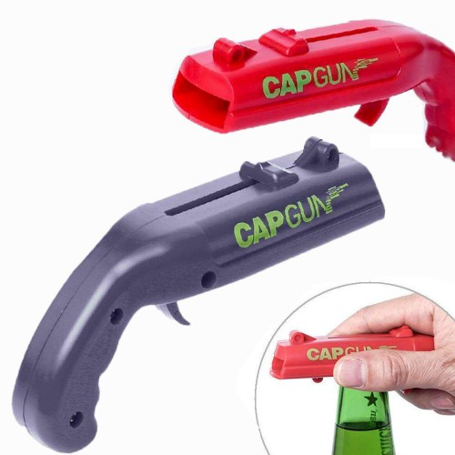 ABS Creative Cap Launcher Shooter Bottle Opener Magnetic Drink Opener for Home Party Drinking