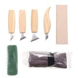 7Pcs Wood Carving Cutter Peeling Curved Woodwork Sculptural Carving Tool Set