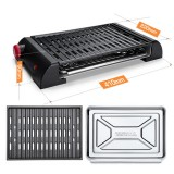 IPRee Electric Barbecue Grill BBQ Gill Outdoor Camping Traveling Smokeless Non-Stick Tabletop BBQ Cooking Stove