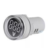 3Pcs AC20-500V LED Large Display Voltage Meter Digital Gauge Volt Indicator Signal Lamp Voltmeter Lights Tester-White