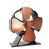 4 Blade Stove Fan 160-210CFM 1300RPM Heat Powered Stove Fan for Wood Log Burner Fireplace Slient Eco-Frienly Fan
