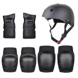 7PCS Helmet+Hand Support+Knee Support+Elbow Support Set Outdoor Riding Helmet Scooter Helmet Balance Bike Helmet Set