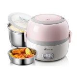 Bear Portable Electric Heating Rice Cooker Plug-in Heating Insulation Hot Rice Pot for Worker