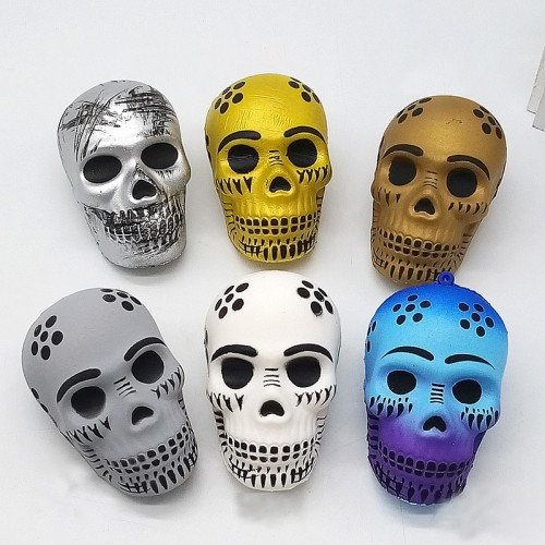 Funny Skull Scented Charm Slow Rising Children Interesting Anti-Stress Toys Squeeze Toys