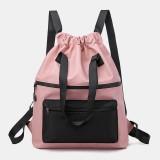 Men Women Nylon Waterproof Large Capacity Light Weight Handbag Backpack