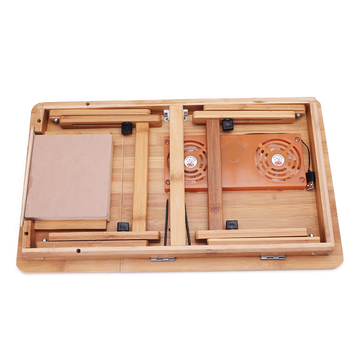 Picture of: Portable Folding Lap Desk Bamboo Laptop Breakfast Tray Bed Table Stand Fan Alexnld Com