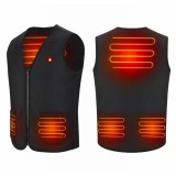 Electric Vest Heated Jacket USB Warm Shoulder Back Waist Abdomen Up Heating Pad Winter Body Warmer Cloth