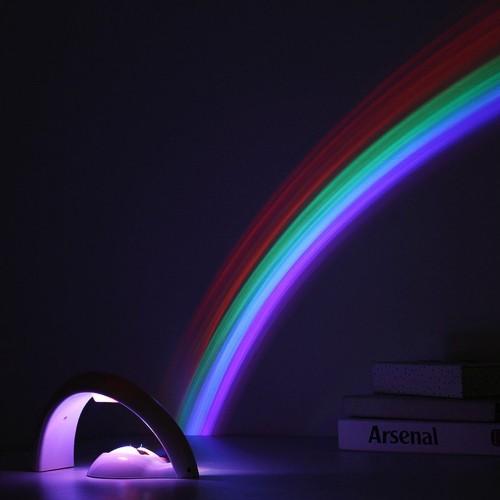LED Colorful Rainbow Lamp LED Night Light Romantic Rainbow Projector Lamp Portable