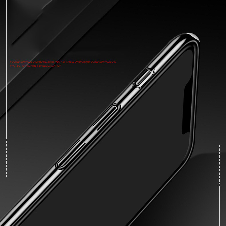 Bakeey Luxury Plating Mirror Tempered Glass Protective Case for iPhone 11 6.1 inch