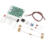 EQKIT TDL-555 Touch Delay LED Light DIY Kit Touch Delay Lamp Electronic Parts Production Kit DC 5V 3s to 130s Adjustable