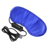 USB Heating Eye Mask 3 Speeds Timing Warm Compress Eye Patch Massager Relieve Blepharitis