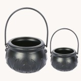 Black Halloween Decorations Witch Jar Candy Box Halloween Props Kids Doll Candy Sweet Jar