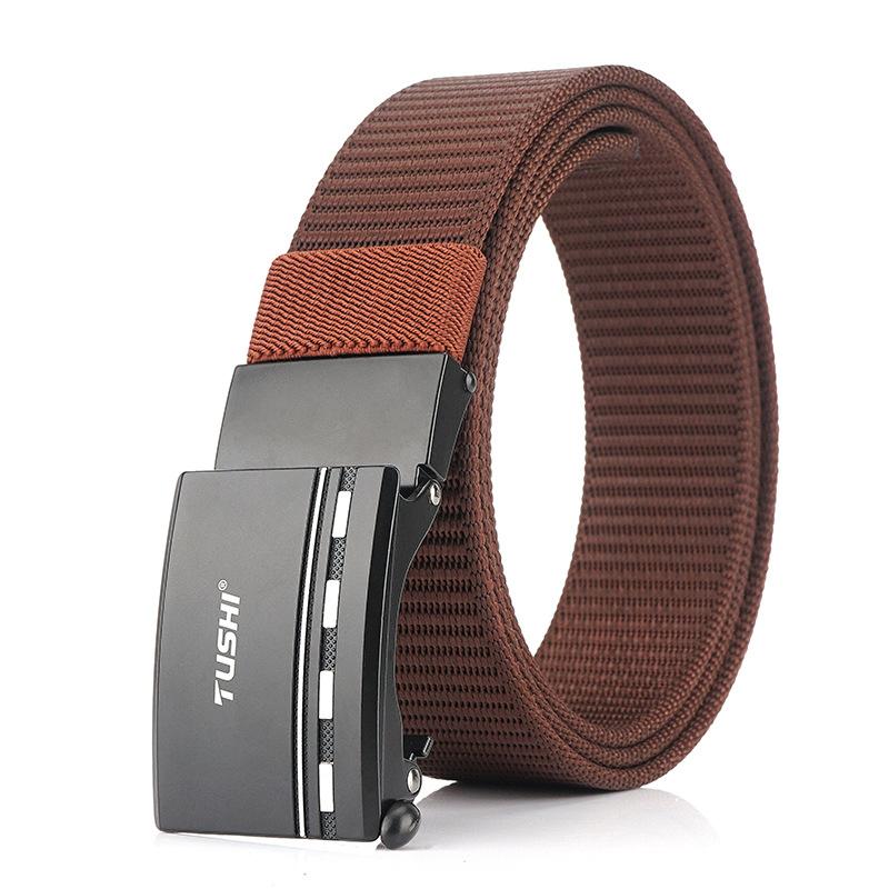 TUSHI 125cm x 3.4cm Nylon Zinc Alloy Buckle Tactical Belt Casual Belts Waist Belts