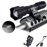 VASTFIRE 850NM Zoomable LED Infrared Radiation IR Lamp Night Vision Flashlight USB Rechargeable LED Flashlight Tactical Flashlight 18650 Flashlight
