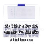 100pcs 10 Models 6×6 Tact Switch Tactile Push Button Switch Kit Height 4.3MM-13MM DIP 4P Micro Switch 6×6 Key Switch