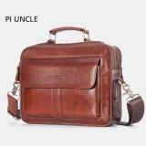 Men Genuine Leather Business Bag Handbag Shoulder Bag Crossbody Bag