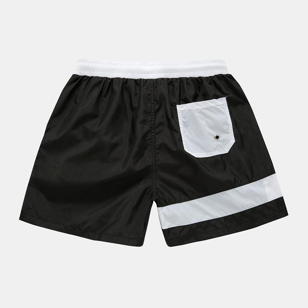 Mens Color Block Designer Board Shorts Side Zip Mesh Lining Jogger Sports Beach Shorts With Pockets