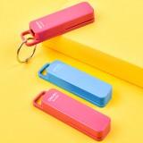 Deli 0250 Mini Candy Color Stapler Stitching Machine Portable Small Student Stationery Pocket Mini Stapler