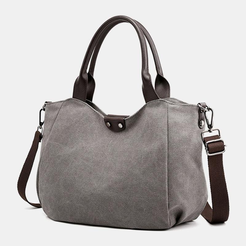 Women Large Capacity Canvas Casual Handbag Shoulder Bag Crossbody Bags