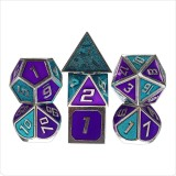7Pcs Metal Polyhedral Dices Set Role Playing D & D Dungeons and Dragons Dice Party Table Games with Carrying Bag
