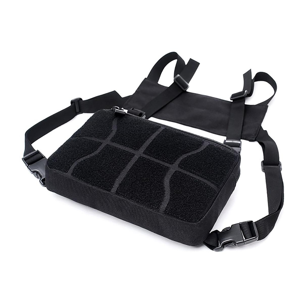 Men/'s Multipurpose Chest Bag Vest Chest Rig Bag Hip Hop Waistcoat Waterproof