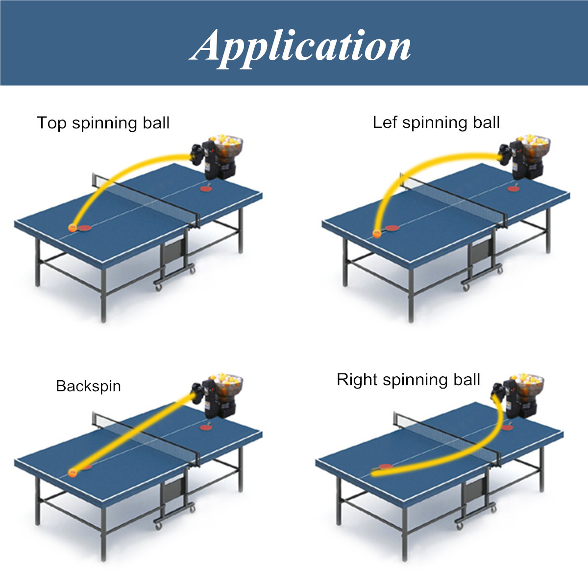 PingPong Table Tennis Practice Robot Automatic Ball Machine for Training-Exercise
