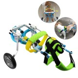 Pet Dog Wheelchair Cart Hind Legs Walk Pet Trainer With 4 Wheels Puppy Walk Traction Max Load 5kg